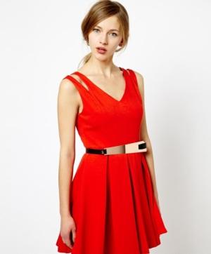 Red Oasis dress purchased via Asos.com