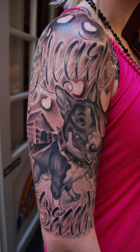 bull terier tattoo