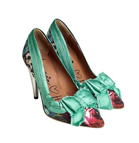 lanvin for H&M floral pointed toe heels