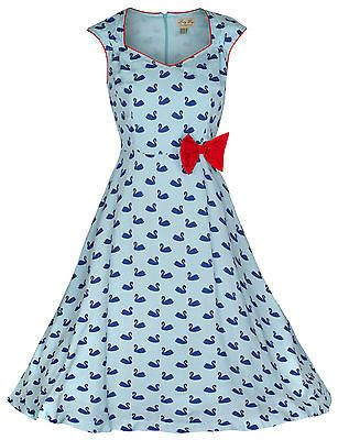 sweetheart swan swing dress