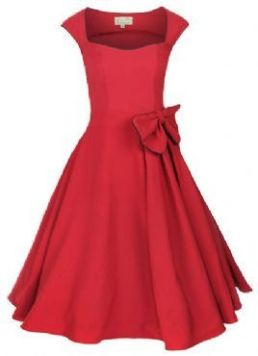 50's swing dress with bow