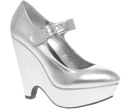 asos phoebe platform metallic mary jane wedges