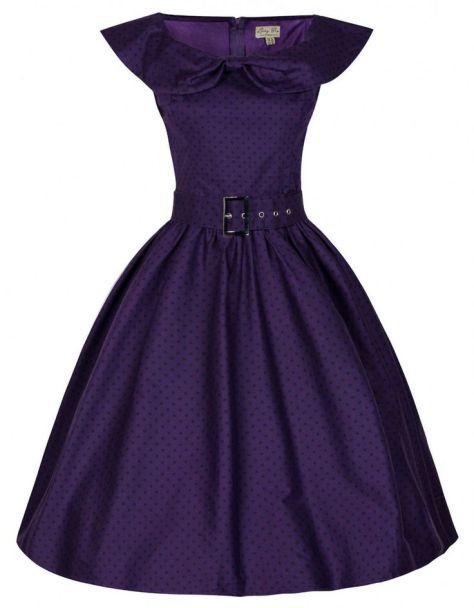 Hetty Polka dot swing dress