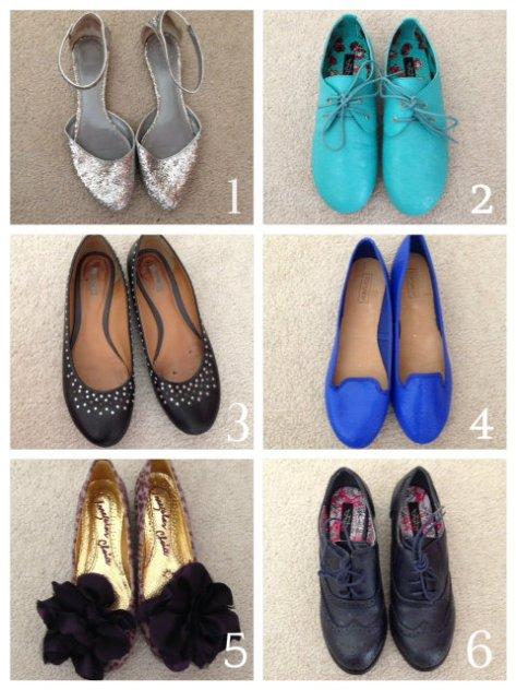 shoe selections