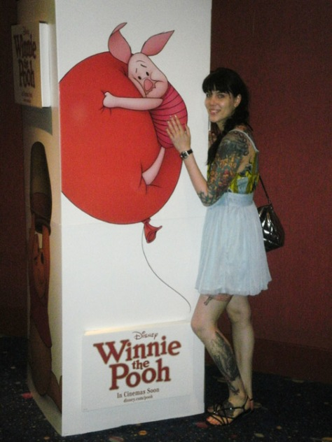 with piglet from winnie the pooh