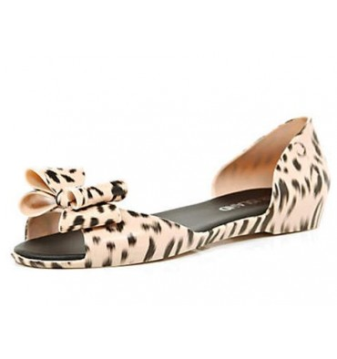 river island jelly peep toe flats leopard