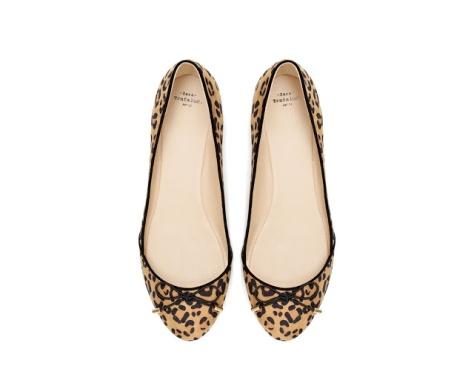 zara leopard print flats