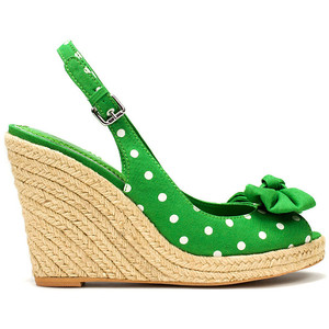 zara polka dot wedge