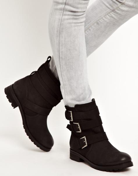 asos leather biker boots
