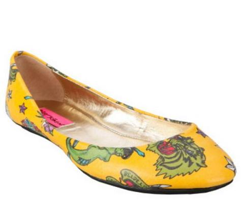 betsey johnson tattoo flat shoes