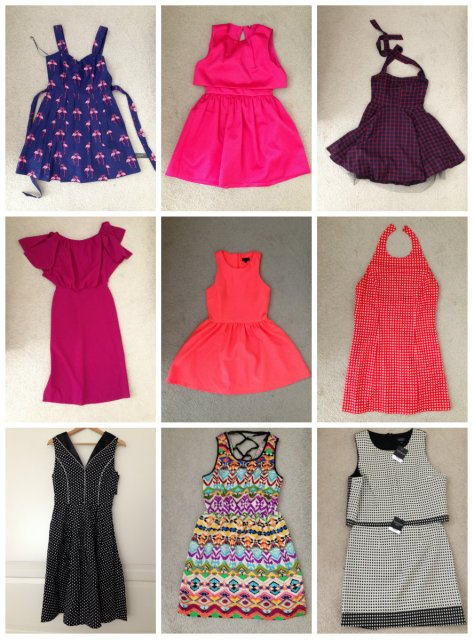 collage dresses