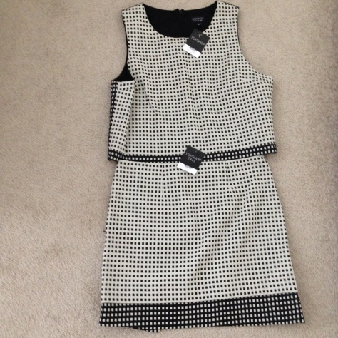 topshop contrast gingham wrap skirt and shell top