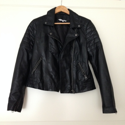 debenhams red hering leather jacket