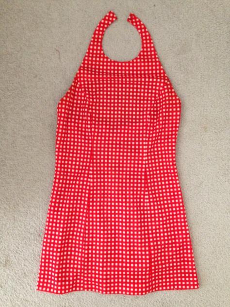 vintage gingham mini dress