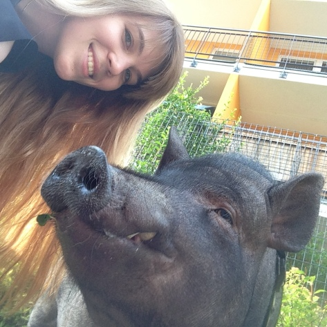 me and my pet pig