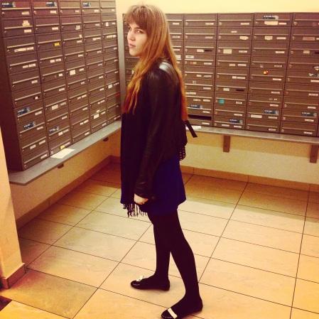zara woman dress  and moschino kartel bow wow shoes