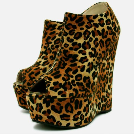 i love shoes leopard print ankle boots
