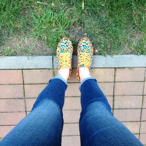 asos orange leopard print trainers