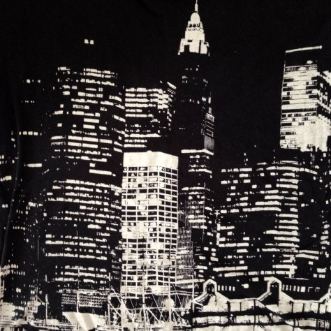 Realitee (for Topshop) New York City t-shirt, graphic print, skyscrapers