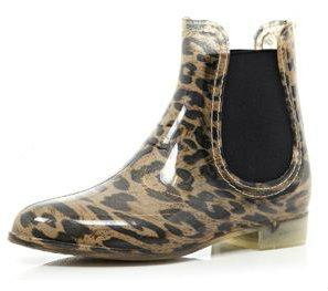 river island leopard print chelsea boot