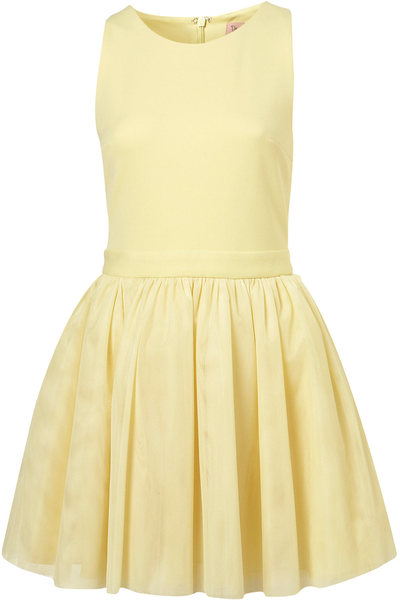 topshop dress up yellow tulle dress