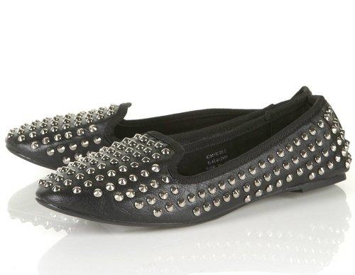 topshop heavy stud slipper flats