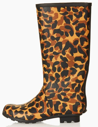 topshop dare animal print wellies