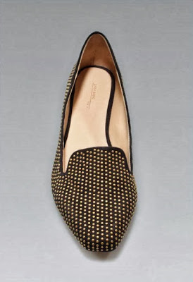 zara collection studded slipper flats front