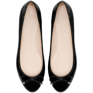 zara trf black ballet flat shoes