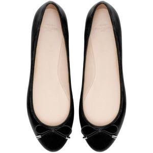 zara trf black ballet flat shoes