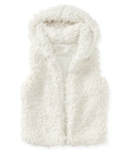 aeropostal furry hooded vest