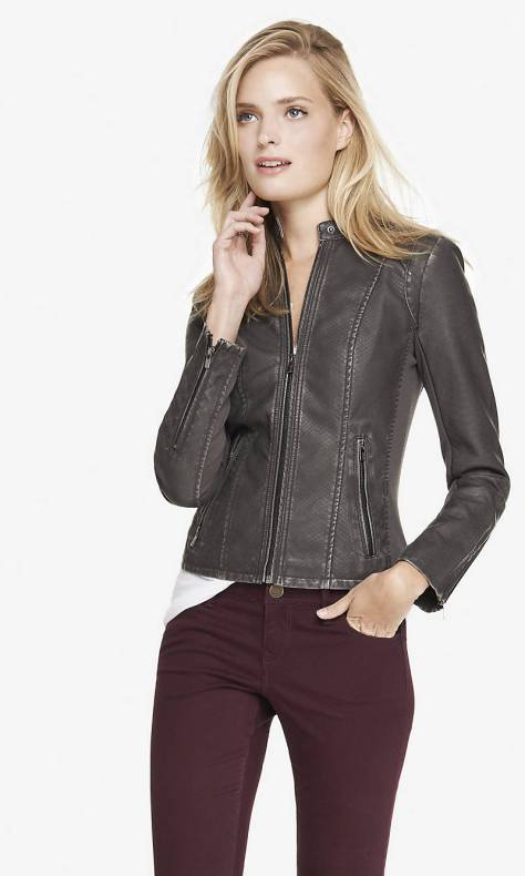 express snakeskin minus the leather moto jacket