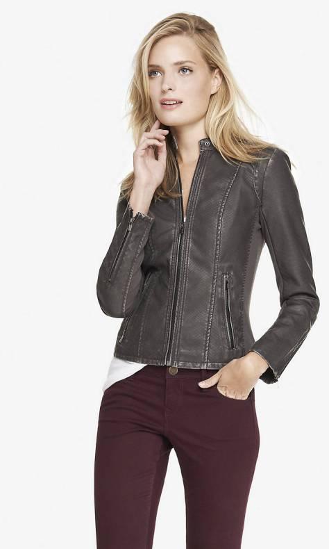 express snakeskin minus the leather moto jacket