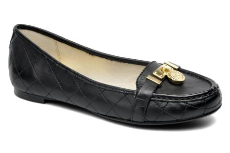 michael kors hamilton moc loafers black