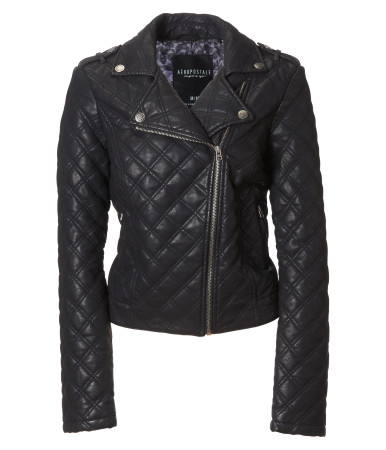 aeropostale quilted fake leather jacket