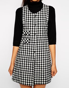 pop boutique pinafore dress