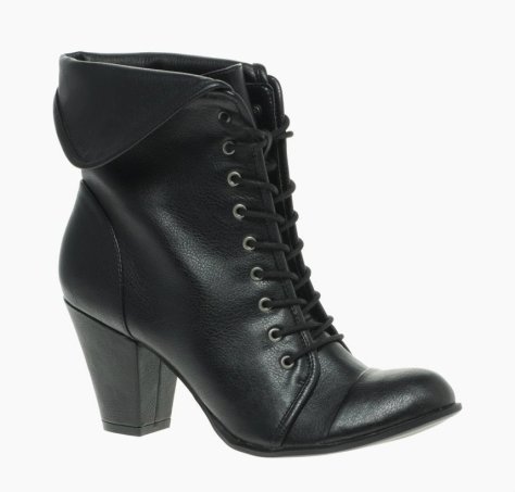 asos fold over anke boot