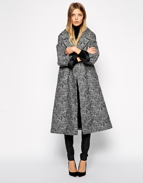 asos midi swing coat