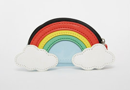 asos rainbow coin purse