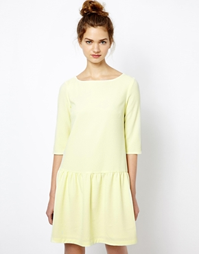 french connection tennis crepe drop waist dress