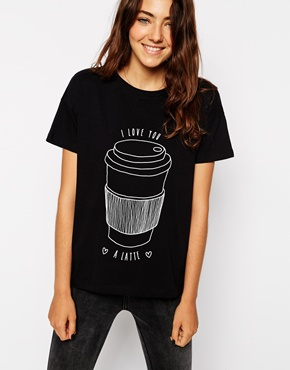I love you a latte asos shirt