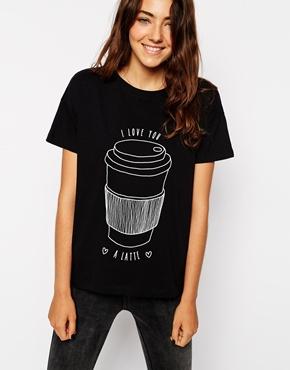 I love you a latte asos shirt