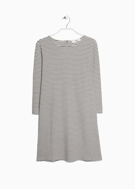 Mango stripped cotton dress