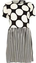 river-island-black-mixed-spot-and-stripe-skater-dress
