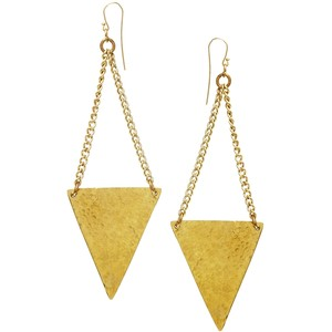 made tulaiango triangle drop earrings