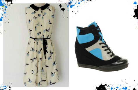 zara dress asos wedge trainers