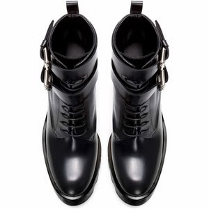zara woman leather track ankle boots front