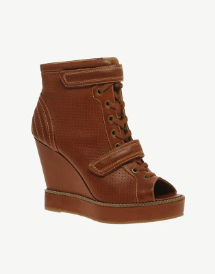 asos amplify punch out wedge ankle boots