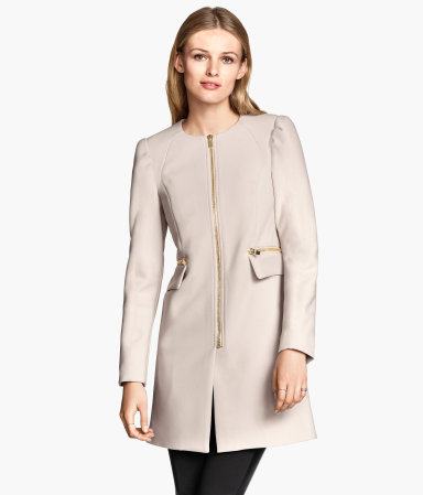 H&M Short coat £49.99 - light beige