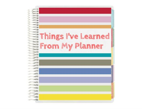 life planner erin condren things